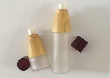 China Recyclable Glass Empty Cosmetic Bottles Silk Screen Printing Eco Friendly supplier