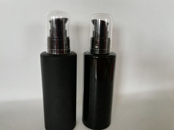 China UV Coating Black Airless Pump Bottles / Durable Plastic Lotion Bottles supplier