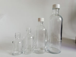 China Transparent Cosmetic Glass Bottles For Rose Water Packing Customized Size supplier
