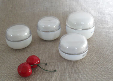 Good Quality Empty Cosmetic Bottles & OEM Round Fat Plastic Cap Empty Cosmetic Pots  , 1 Oz 2 Oz Makeup Jars on sale