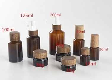 China Recyclable Round Cosmetic Jar Containers Dropper Skin Care Glass Bottle Set factory