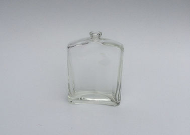 China Square Empty Glass Perfume Bottles 30ml 50ml 60ml 100ml With Curved Edge factory