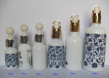 China 100ml Essential Oil Glass Vials With Silver Pump Dropper Screen Printing distributor