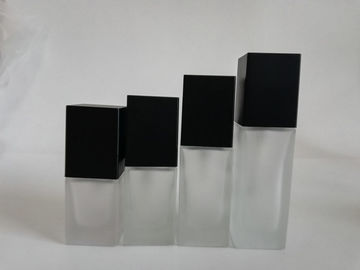 China Liquid Foundation Glass Cosmetic Containers / Sample Size Cosmetic Containers distributor