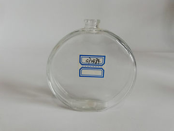 China Oval Transparent Empty Glass Perfume Bottles Silk - Screen Printing distributor